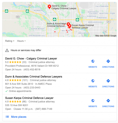 3 pack results for Calgary Criminal Lawyer